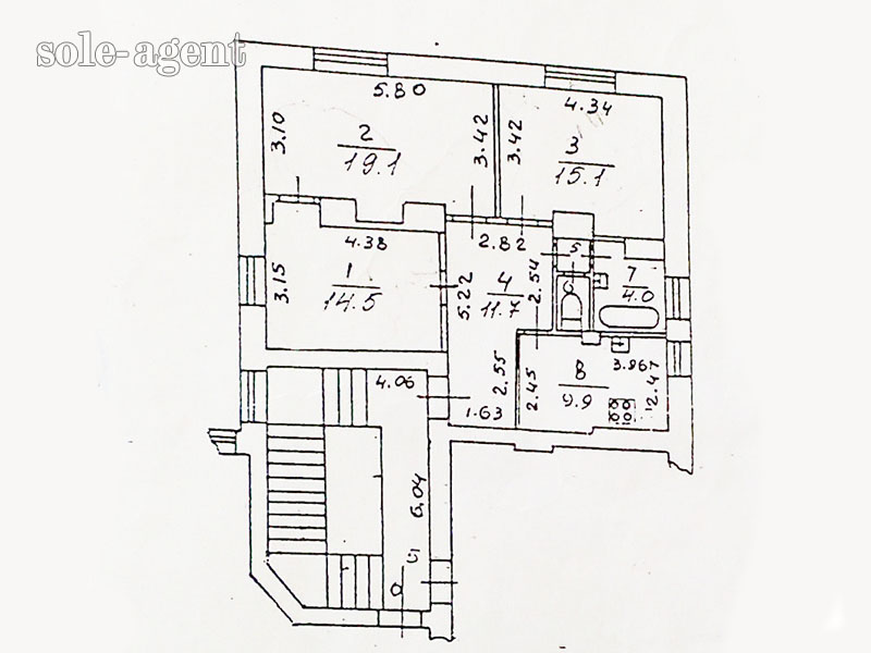 Коломна, 3-х комнатная квартира, ул. комсомольская д.2, 375.